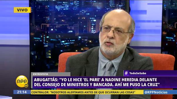 Daniel Abugattás ya se desafilió oficialmente del Partido Nacionalista.