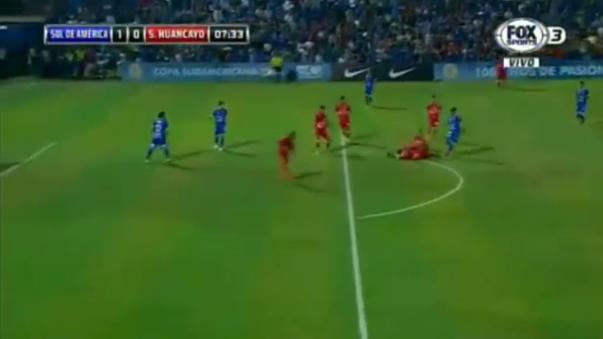 El gol de Yonathan Samaniego que valió el triunfo para Sol de América.