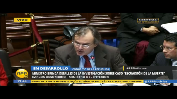 Carlos Basombrío habla del 'Escuadrón de la muerte'
