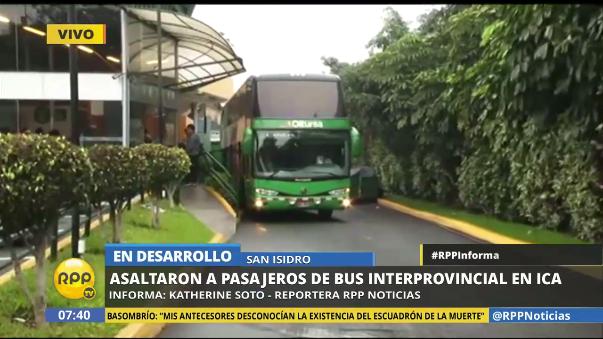 El asalto al bus se produjo a la una de la mañana