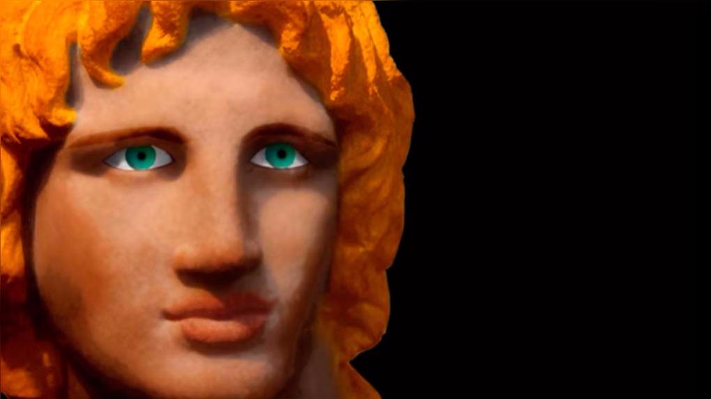 Alejandro el Grande a colores.