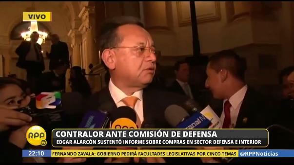 El contralor Edgar Alarcón dio cuenta de la existencia de indicios sobre presuntas irregularidades en la compra de patrulleros que hizo el gobierno de Humala.