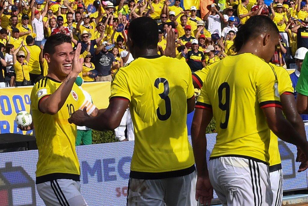 Colombia derrotó 2-0 a Venezuela.
