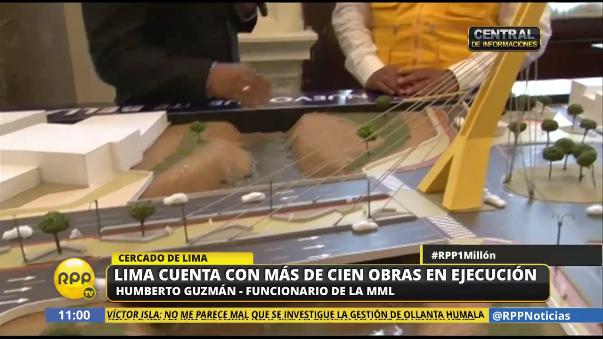 Humberto Guzmán, funcionario de la MML, reconoció retrasos en la construcción del Puente Bella Unión.