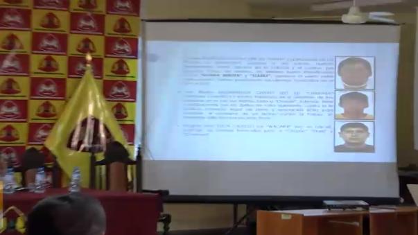 El informe fue elaborado por inteligencia de la PNP