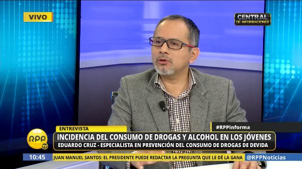Eduardo Cruz, el psicólogo y especialista en prevención de consumo de drogas de Devida.