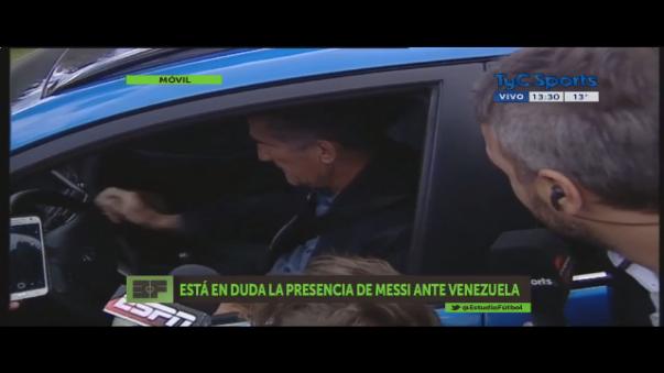 Edgardo Bauza confirmando que Messi no jugará ante Venezuela.