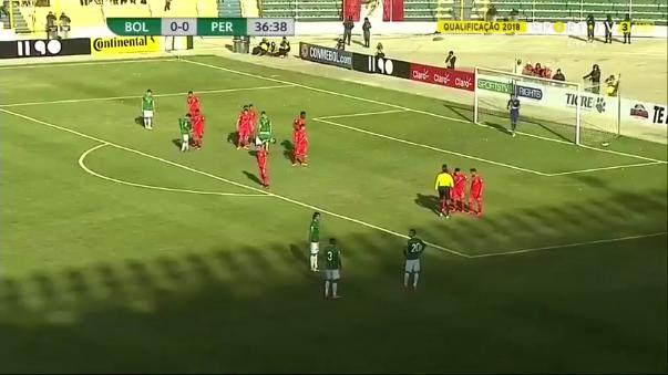 El gol de tiro libre que mató a Perú en la altura de La Paz.
