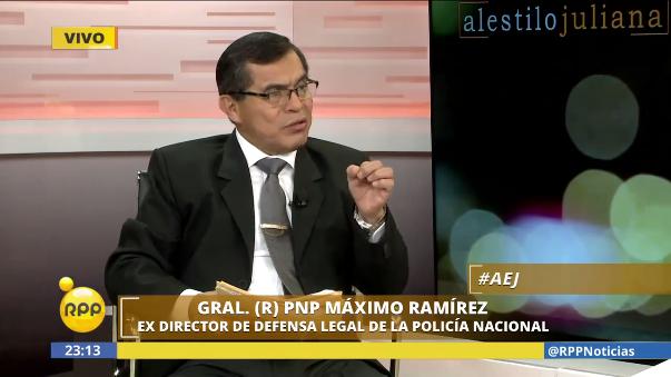 Máximo Ramírez, general PNP pasado al retiro,  cuestiona decisión del Mininter.