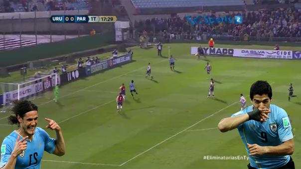 Luis Suárez armó una jugada personal para el gol de Edinson Cavani.