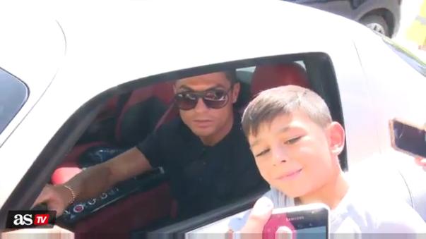 Cristiano Ronaldo y sus hinchas en España.