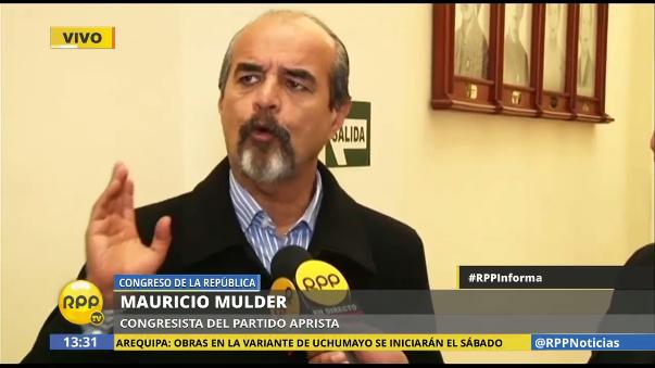 Mauricio Mulder dijo que Guido Lombardi los acusa de una manera