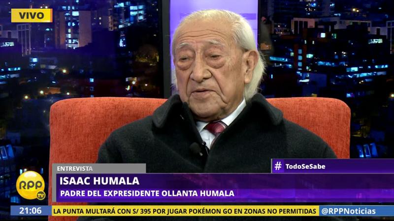 Isaac Humala contó que sigue distanciado de su hijo Ollanta Humala.