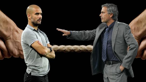 La rivalidad entre los entrenadores más polémicos del fútbol: Jospe Guardiola y José Mourinho.