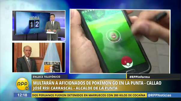 Alcalde de la Punta dialogó con RPP Noticias sobre la norma que restringe el juego Pokémon Go en su distrito.