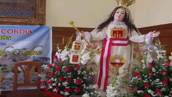 La imagen de Nuestra Señora de las Mercedes de Salpo llegará este sábado a Trujillo.