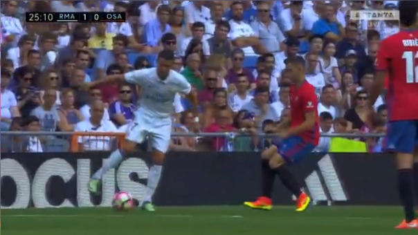 El genial pase de taco de Cristiano Ronaldo en goleada del Real Madrid