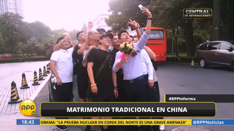 Retos, simulaciones y bromas caracterizan a las bodas chinas.