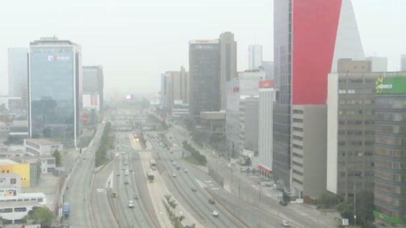 Así luce la capital en las primeras horas del día.