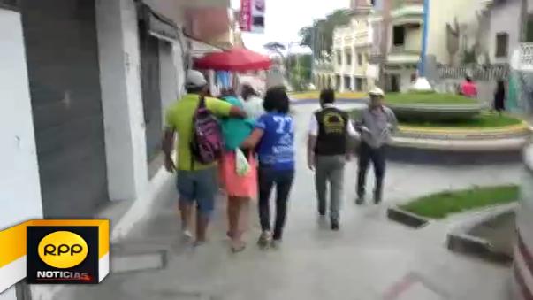 El personal de Serenazgo halló a la menor en el paseo La Concordia a 20 metros de la plaza central de Tumbes.