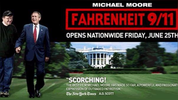 El exitoso documental Fahrenheit 9/11 (Michael Moore) planeta dudas sobre lo que realmente pasó el 11 de setiembre del 2001.
