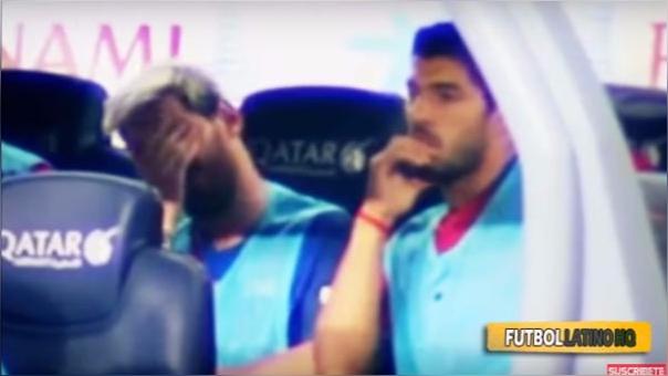La reacción de Messi y Suárez en la derrota del Barcelona ante Alavés