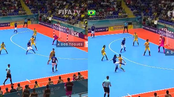 Falcaõ hizo de las suyas en el Mundial de Futsal.