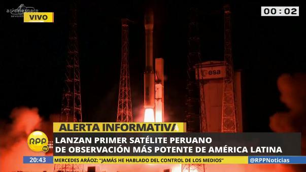 Satélite fue lanzado al espacio,