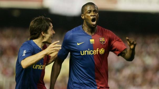 Yaya Touré jugó en Barcelona dirigido por Pep Guardiola entre 2008 y 2010.