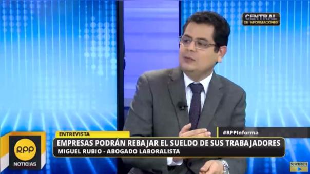 Entrevista en RPP TV a Miguel Rubio, gerente de Capital Humano de EY Perú.
