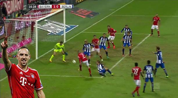 Frack Ribery anotó dos goles en la Bundesliga pasada. Actualmente lleva el mismo registro en cuatro partidos.
