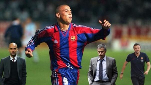 Ronaldo Nazario y su lujo ante Mourinho, Guardiola y Luis Enrique.