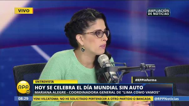 Mariana Alegre, del Lima Cómo Vamos, comenta el estado de las ciclovías en Lima.
