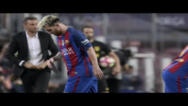 Lionel Messi se lesionó en el compromiso ante el Atlético de Madrid por la Liga Española.