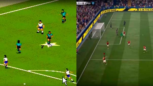 La evolución de FIFA desde 1994 al 2017