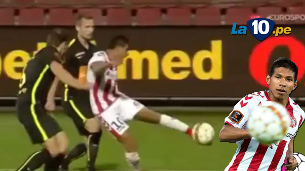 Edison Flores demuestra un buen nivel en Aalborg.