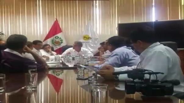 El ministro de Agricultura,  José Manuel Hernández, se reunió con el gobernador regional de Piura, Reynaldo Hilbck.