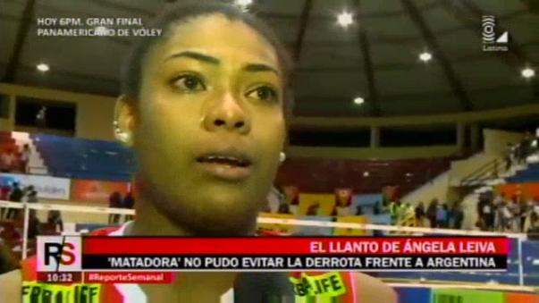 Perú perdió 3-1 ante Argentina y le dijo adiós al Mundial de Eslovenia 2017. Ángela Leyva 'rompió' en llanto tras el final del partido.