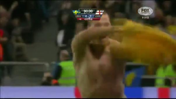 Zlatan Ibrahimovic y el golazo que le metió a Inglaterra.