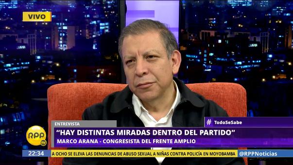 Marco Arana reapareció en la escena políticas tras superar problemas renales que lo alejaron del Congreso desde Tierra y Libertad separó a Marisa Glave del comité del Frente Amplio.