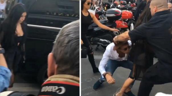 YouTube: Kim Kardashian fue atacada por un sujeto en Paris