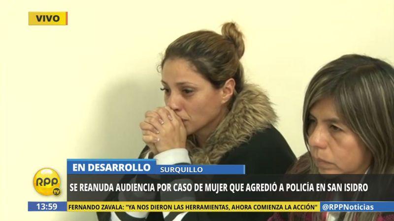 Lisbeth del Carmen Obando Banchero escuchó entre sollozos la sentencia en su contra.