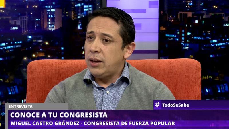 Miguel Castro Grández es congresista fujimorista electo por la región de Amazonas.