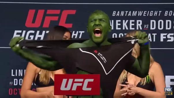 El deportista hizo honor a su apelativo de 'Hulk'.