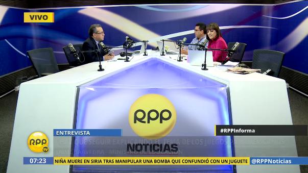 Jaime Saavedra negó que Nadine Heredia haya interferido en la organización de los Juegos Panamericanos.