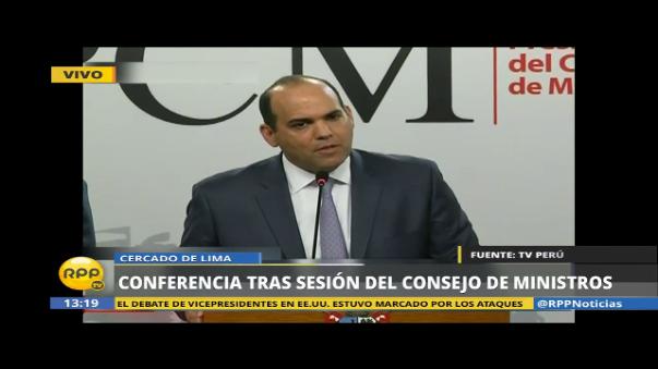 El premier Fernando Zavala detalló las funciones que tendrá esta oficina.