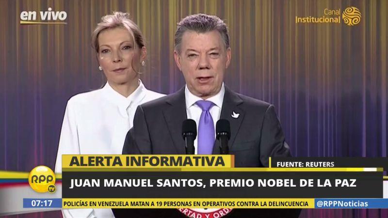Juan Manuel Santos fue premiado con el Nobel de la Paz pese a que el NO al acuerdo con las FARC ganó en el plebiscito del pasado domingo.