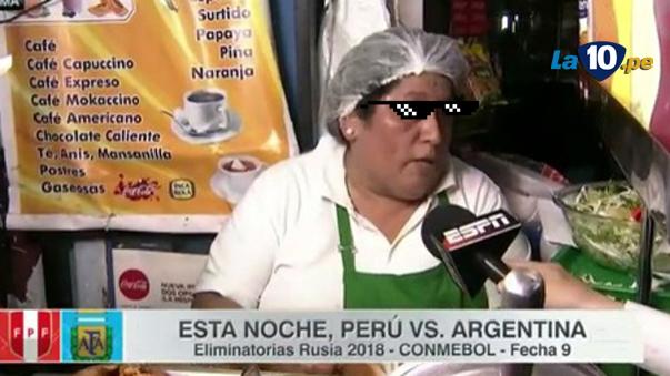 Periodista argentino se llevó una gran sorpresa por audaz respuesta de cocinera peruana.