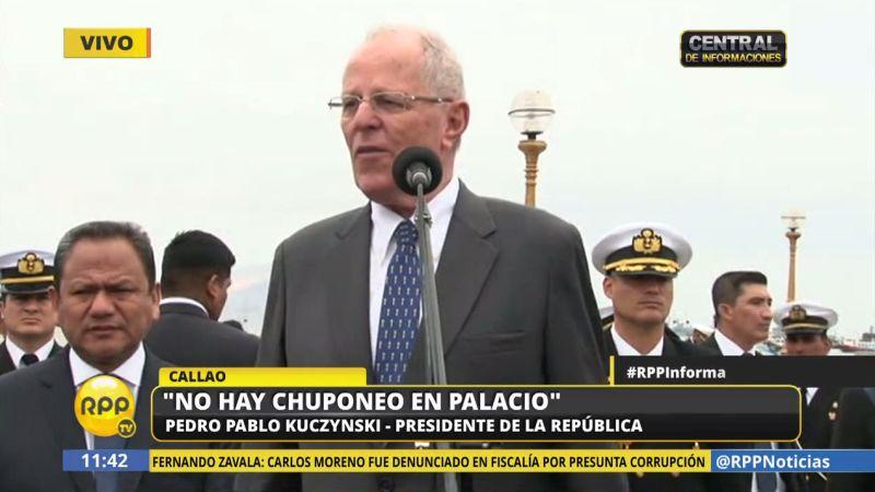 PPK reiteró que en Palacio no se practica el chuponeo.