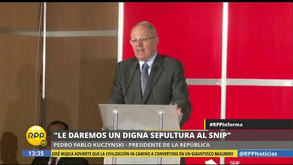 El presidente de la República cree que es hora de cambiar el SNIP por otro sistema.